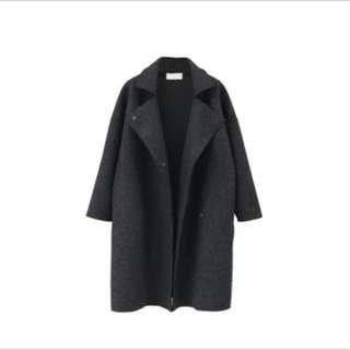 🚚 寬重磅鬆毛呢大衣