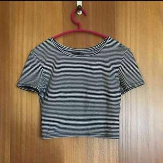 🚚 全新Zara短版條紋上衣#我有ZARA要賣
