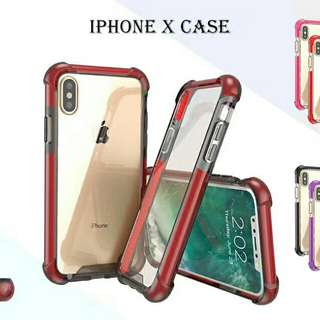 Clear Transparent EDGED LUX Case For iPhone 6/7/8/X