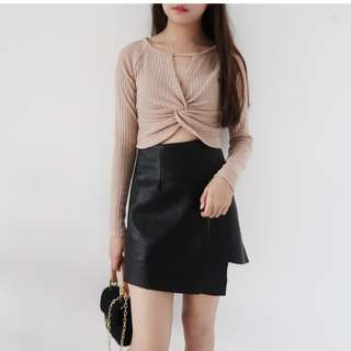 (12/12 PROMO) Long Sleeve Neck Chain Top