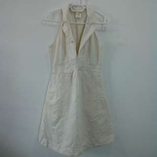 Linen office dress
