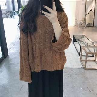 🚚 麻花針織寬版針織上衣