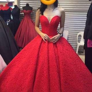 JULIA BARRETTO MICHAEL CINCO INSPIRED Red Ballgown for Prom Debut Gradball Sagala