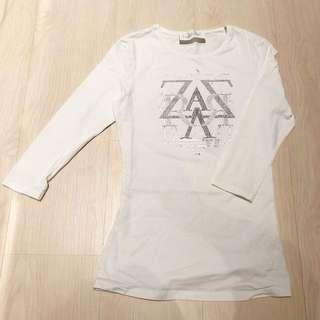 ZARA 七分袖上衣 T-shirt 白 #我有ZARA要賣