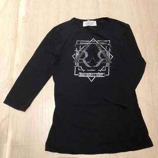Zara 七分袖上衣 T-shirt 黑 #我有ZARA要賣