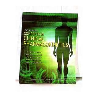 Medical Book - Concepts in Clinical Pharmakokinetics by Joseph Dipiro- 2