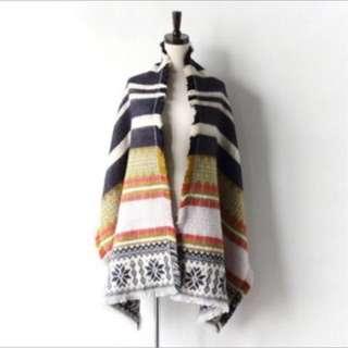 Zara款 歐美雪花編織圍巾