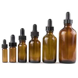 Amber Bottle with Dropper & Child Proof Cap 10ml 30ml 50ml