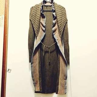 🚚 設計感長版針織長外套