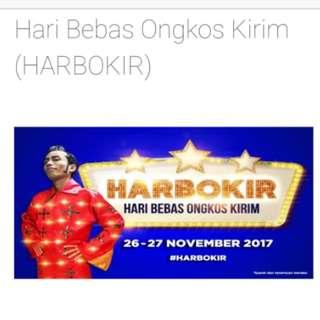 HARBOKIR JNE (Hari Bebas Ongkir) 26-27 Nov 2017