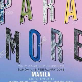 Looking for: 1 Lower Box Standing Paramore tickets