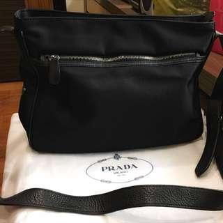 Aunthentic Prada unisex sling bag