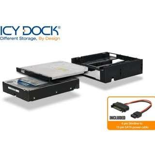 """台灣名廠 ICY Dock MB343SPO 3.5"""" HDD SSD Slim ODD Bay to 5.25"""" Rom 光碟機 轉換架 - 原裝行貨"""