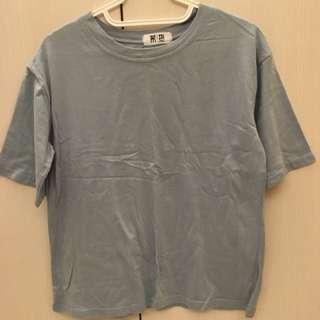🚚 霧藍短袖T恤