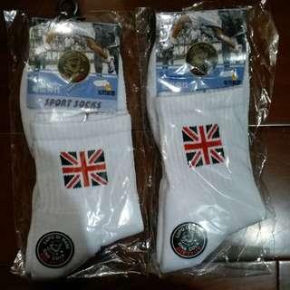 🚚 英國旗毛巾氣墊襪