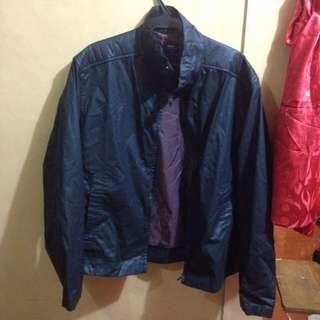 Authentic Bossini Leather Jacket