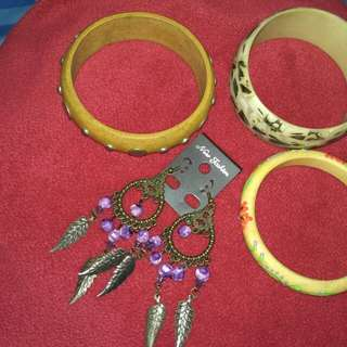 Take all 60k ( 3 gelang etnik +  1 pasang anting )