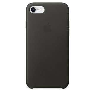 iPhone 7 全新炭灰色原廠皮革保護套