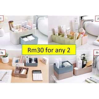 Multipurpose Make Up Storage Drawer Organizer Plastic Shelf Storage box