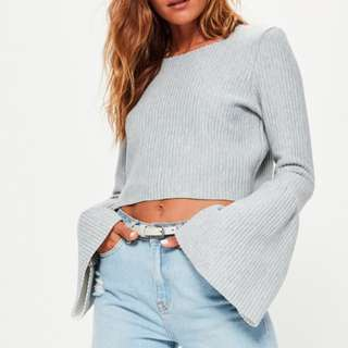 Cropped flared top