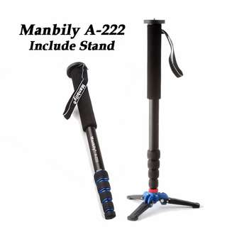 Manbily A-222 Monopod with stand [No Stock / Feb 2019]