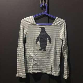 Gap Striped Penguin Long Sleeve Top