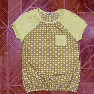 Cliffe Yellow Blouse