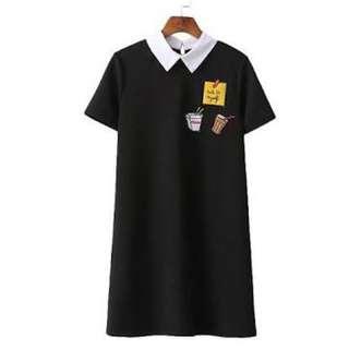 Fastfood Black Dress