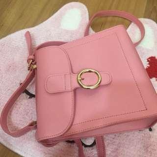 Pink shoulder bag from miniso