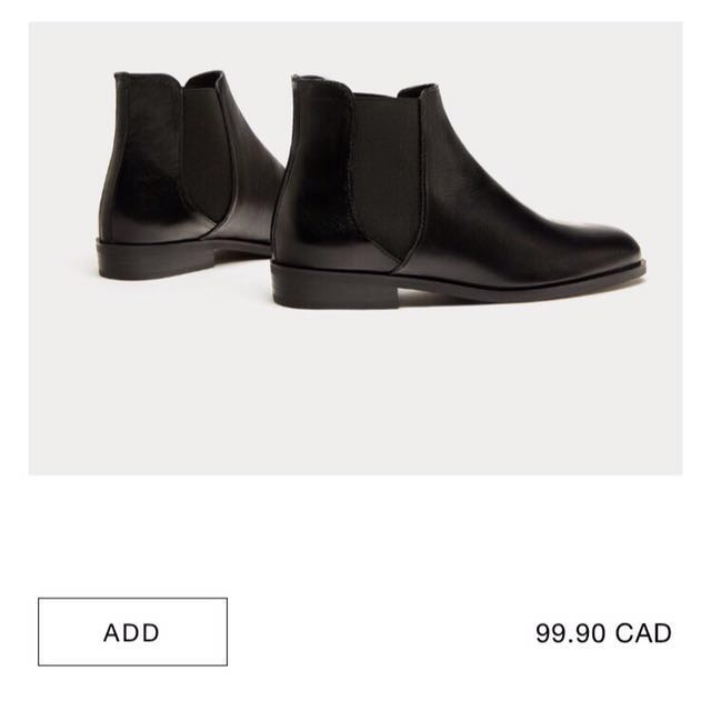 2017A/W Zara leather Chelsea boots
