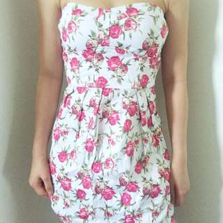 Petite Floral Tube Dress