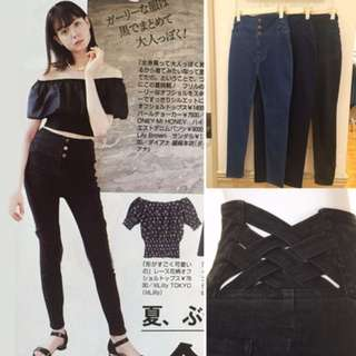 lily brown 同款高腰牛仔褲 High-waist skinny jeans jeggings 1