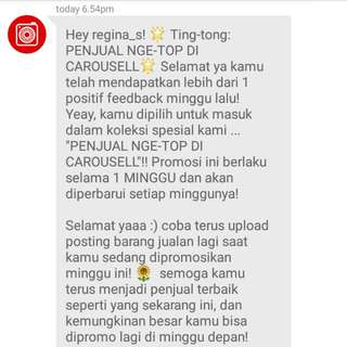 The 18th times... Thank you a lot Carousell