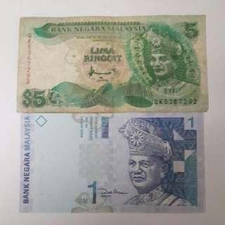 BANK NEGARA MALAYSIA  (Note) $1  ($3) $5  ($15) Collectable