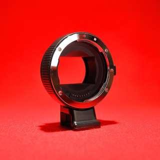 EF to E mount Commlite CM-EF-NEX adapter