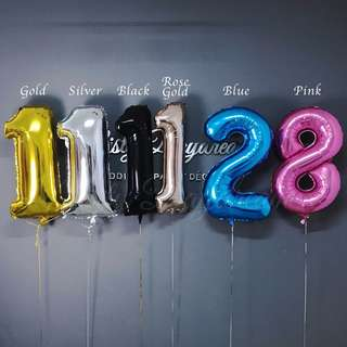 Helium Balloons 40 inch Jumbo Letter/ Number