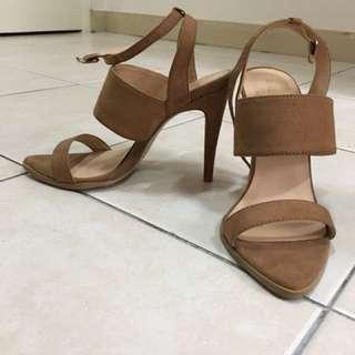 Zalora sandal heels (brown, size 39)