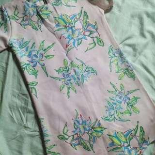 Floral Zipper Back Dress