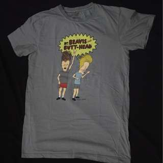 MTV Music T-Shirt Beavis & Butt-head Cartoon Band Music ACDC
