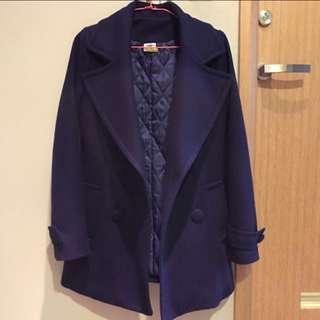 🚚 正韓寶藍色大衣
