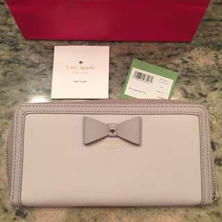 BNWT Authentic Kate Spade Long Wallet Saffiano Leather