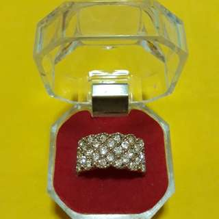 White Crystal Ring Gold Plated (size13 & 15)