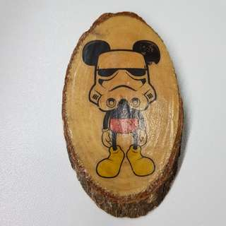 Mickey Mouse x Storm Trooper Photo in Wood