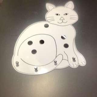 壁式貓咪掛鉤+6個磁鐵