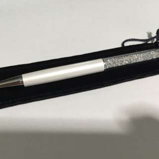 Swarovski Pen (white) with cert
