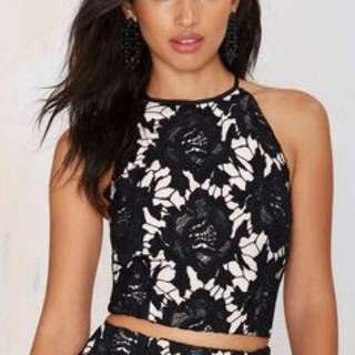 Keepsake true love black lace crop, size 6-8