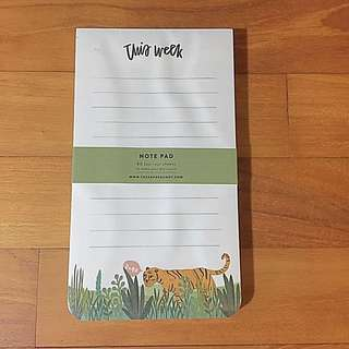 The Paper Bunny This Week Tiger Notepad