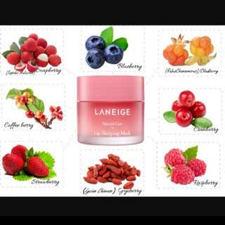(berry) LANEIGE Lip Sleeping Mask 20g  full size   - with free gift