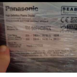 Panasonic HD Plasma TV 50Inch + Speaker and woofer good condition