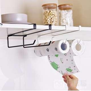 Kitchen Tissue Towel Rack Door storage rack